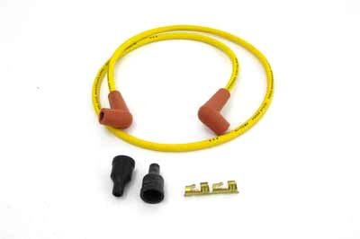 V-Twin 32-0647 - Yellow Suppression Core 7mm Spark Plug Wire Kit
