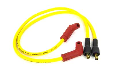 V-Twin 32-0659 - Accel Yellow 8.8mm Spark Plug Wire Set