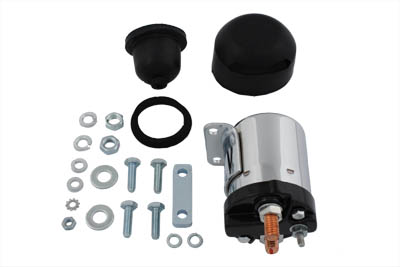 V-Twin 32-0698 - Chrome Starter Solenoid Kit