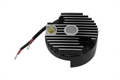V-Twin 32-0795 - Black 12 Volt Regulator End Cover