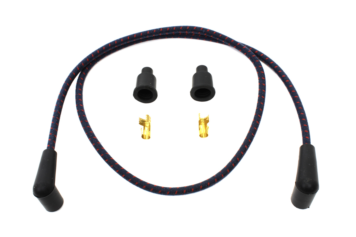 V-Twin 32-1215 - Universal Braided Wire Kit 7mm