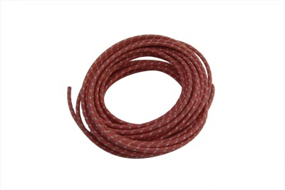 V-Twin 32-8095 - Red 25' Cloth Covered Wire