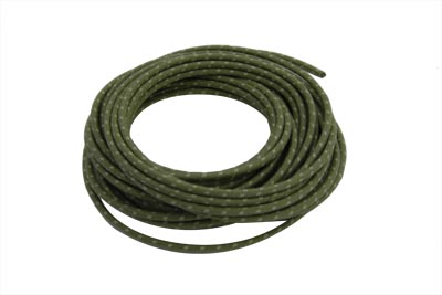 V-Twin 32-8096 - Green 25' Cloth Covered Wire