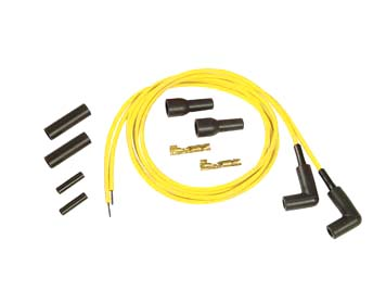 V-Twin 32-9361 - Accel Yellow 5mm Spark Plug Wire Kit