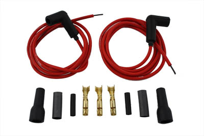 V-Twin 32-9362 - Accel Red 5mm Spark Plug Wire Kit