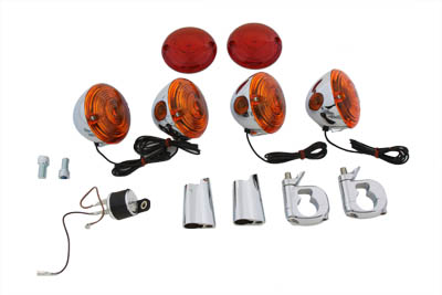 V-Twin 33-0007 - Turn Signal Kit Flat Lens Style