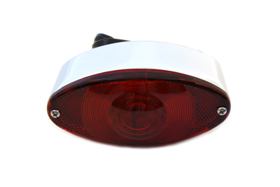 V-Twin 33-0028 - Chrome Tail Lamp Cateye Style