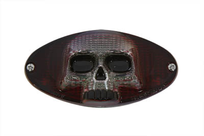 V-Twin 33-0031 - Chrome Cateye LED Tail Lamp Skull Style