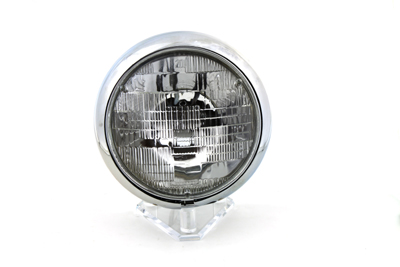 "V-Twin 33-0037 - 6 Volt 7"" Round Sealed Beam Headlamp Assembly"