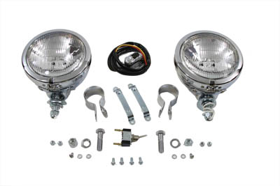 "V-Twin 33-0175 - 12 Volt 4 1/2"" Chrome Spotlamp Kit"