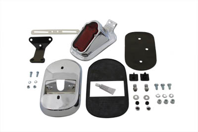 V-Twin 33-0185 - Chrome Tombstone Tail Lamp Kit
