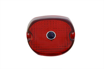 V-Twin 33-0249 - Tail Lamp Lens Laydown Style Red