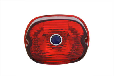 V-Twin 33-0252 - Tail Lamp Lens Laydown Style Red