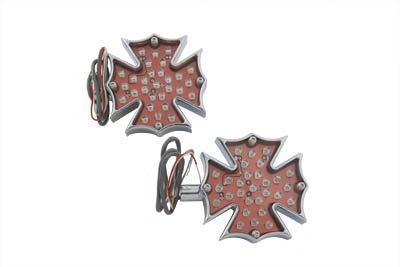 V-Twin 33-0269 - Fireman Cross Turn Signal Set Only