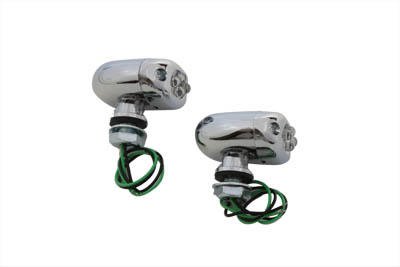 V-Twin 33-0272 - LED Green Marker Lamp Set Center Mount