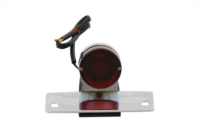 V-Twin 33-0334 - Chrome P-K Sport Tail Lamp with Red Lens