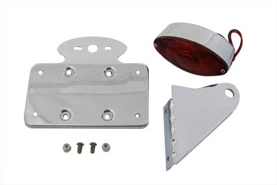 V-Twin 33-0345 - Chrome Horizontal Cateye Tail Lamp Kit
