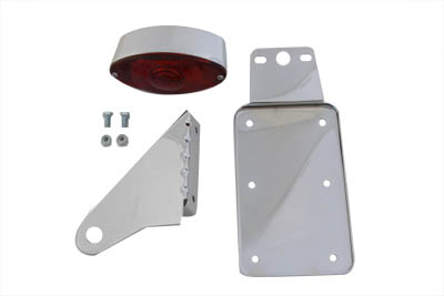 V-Twin 33-0364 - Chrome Vertical Cateye Tail Lamp Kit