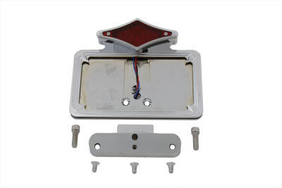 V-Twin 33-0389 - Chrome Tail Lamp and License Plate Holder