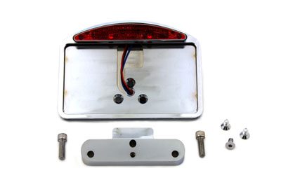 V-Twin 33-0392 - Chrome Tail Lamp and License Plate Holder Slice