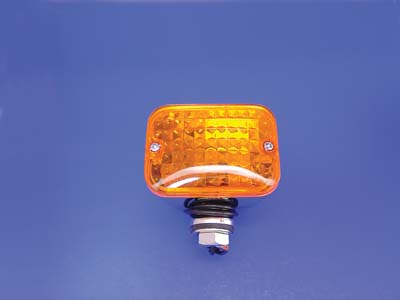 V-Twin 33-0418 - Chrome Tour Marker Lamp Set with Amber Lens