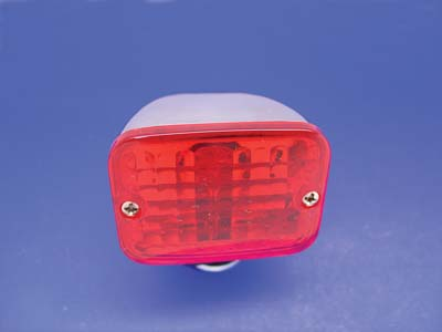 V-Twin 33-0419 - Chrome Tour Marker Lamp Set with Red Lens