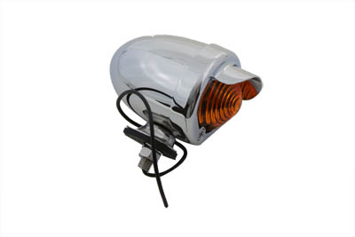 V-Twin 33-0433 - Bullet Style Amber Marker Lamp With Visor