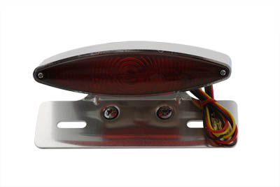 V-Twin 33-0435 - Chrome Snake Eye Fender Mount Tail Lamp Kit