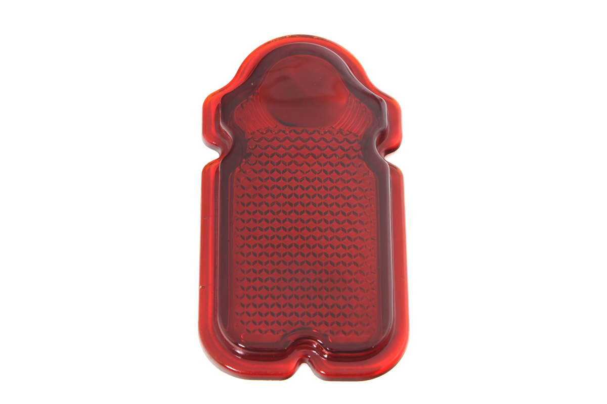 V-Twin 33-0502 - Red Glass Tombstone Tail Lamp Lens