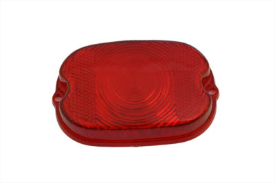 V-Twin 33-0504 - Tail Lamp Stock Type Red Plastic Lens