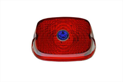 V-Twin 33-0507 - Tail Lamp Lens Red with Blue Dot
