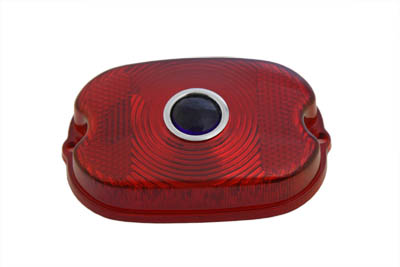 V-Twin 33-0519 - Tail Lamp Blue Dot Red Plastic Lens