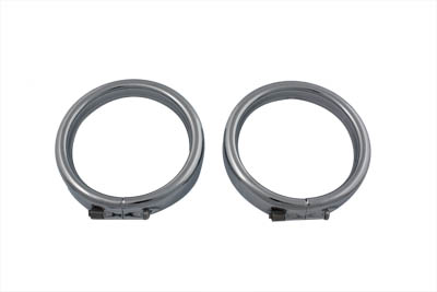 V-Twin 33-0578 - Frenched Turn Signal Trim Ring Kit