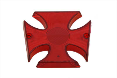 V-Twin 33-0595 - Tail Lamp Lens Maltese Style Red