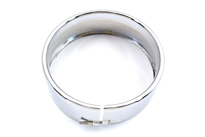 V-Twin 33-0607 - Outer Headlamp Trim Rim Frenched Style Chrome