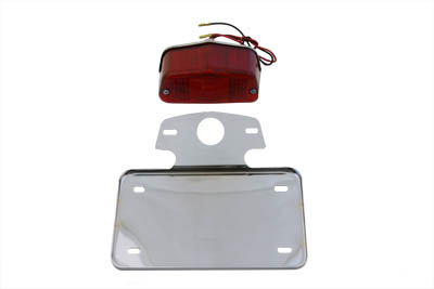 V-Twin 33-0611 - Tail Lamp and License Plate Set Lucas Style