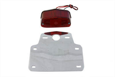 V-Twin 33-0612 - Tail Lamp and License Plate Set Lucas Style