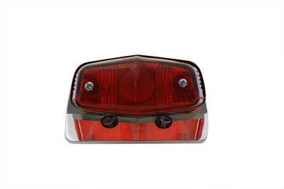 V-Twin 33-0617 - Chrome Sport Tail Lamp Assembly Lucas Style