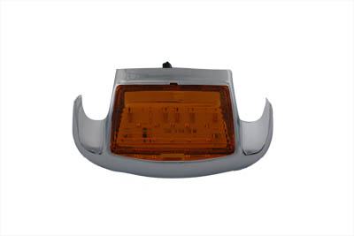 V-Twin 33-0657 - Amber LED Front Fender Lamp Tip with Light