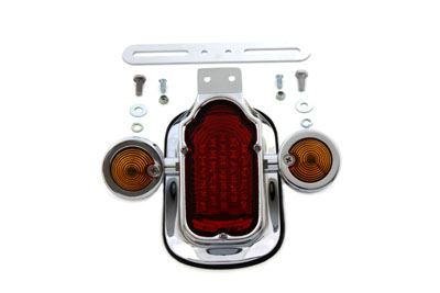 V-Twin 33-0663 - Tail Lamp Assembly Tombstone Style with Bullet