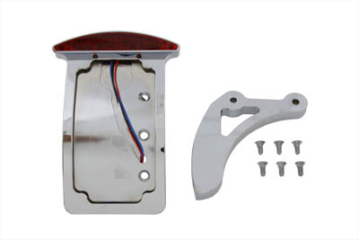 V-Twin 33-0686 - Chrome Curved Slice Style Tail Lamp Kit