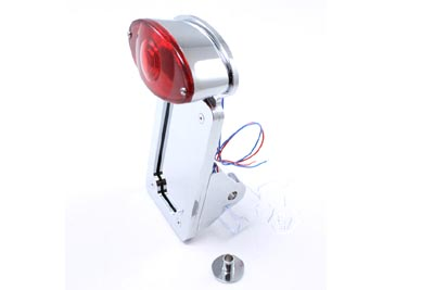 V-Twin 33-0725 - Chrome Cateye Style Tail Lamp Kit