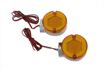 V-Twin 33-0760 - LED Turn Signal Set Rear Amber Lens
