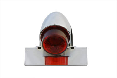 V-Twin 33-1079 - Chrome Sparto Tail Lamp with Bulb