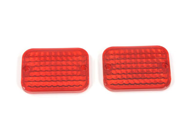 V-Twin 33-1131 - Marker Lamp Lens Set Red Standard Style