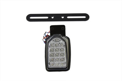 V-Twin 33-1133 - Black Mini Tombstone Tail Lamp with Bracket