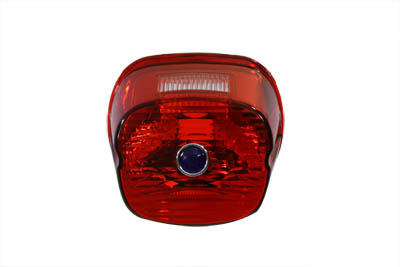 V-Twin 33-1170 - Tail Lamp Lens Laydown Style Red with Blue Dot