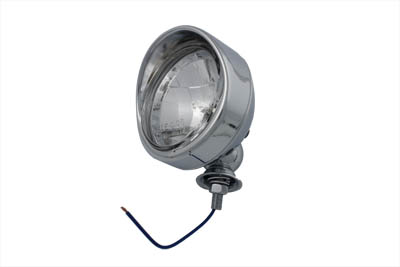 "V-Twin 33-1246 - Chrome 4"" Spotlamp with H-3 Bulb Visor Type"
