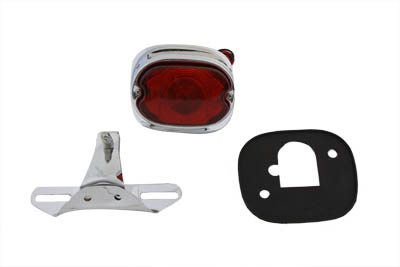 V-Twin 33-1955 - Chrome Tail Lamp and Bracket Kit