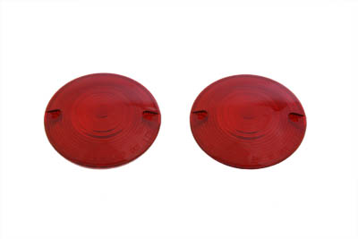 V-Twin 33-1978 - Turn Signal Lens Set Red Front